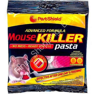 20 x Mouse Rat Poison Sachets Bait Pasta Rodent Control Killer Pro Fast Easy Use