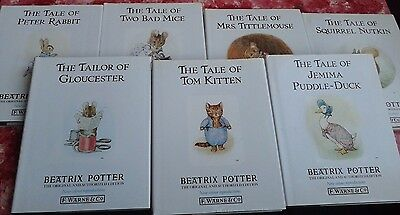 7 BEATRIX POTTER BOOKS! 1980s, Very good condition, collection in person, NE33