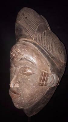 Old Maiden Punu Mask Gabon.......Fest- GB133