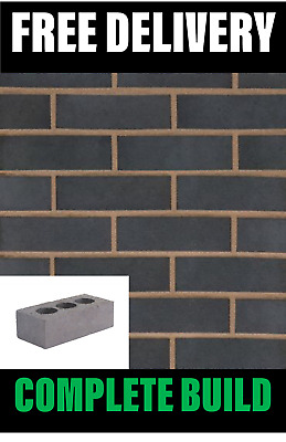 Perforated Class B Blue Engineering Bricks 65mm (215mmx65mmx102mm) FREE DELIVERY