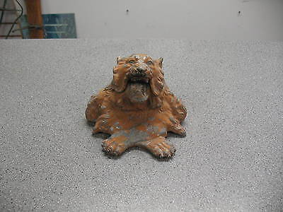 An Antique Victorian Roaring Lion Heavy Cast Metal Spelter Lion Ink Well