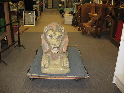 Large Antique Cast Cement Stone Lion Weighs 150-200 lbs Corning, NY Estate Sale