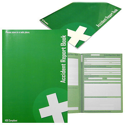 Accident Register Report School Office Medical Record Log Book - HSE Compliant
