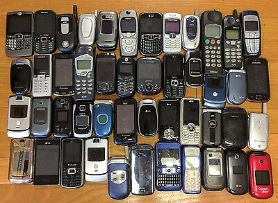 Lot of 84 Broken Cell Phones/Smartphones for Parts/Repair or Gold/Metal Recovery