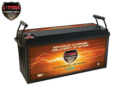 VMAX SLR200 AGM 12V 200AH Battery for Solar Storage, Wind Power, PV Solar Panel