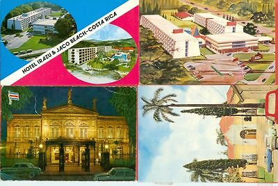 Costa Rica 4 diff stamp Solo used on 4 Post card to USA Lot#2911  gtc