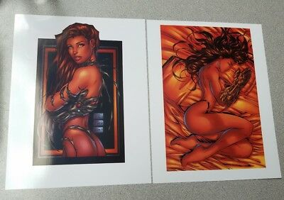 Michael Turner Witchblade 8 X 11 High Quality Art Prints Nude Risque Sexy Hot!