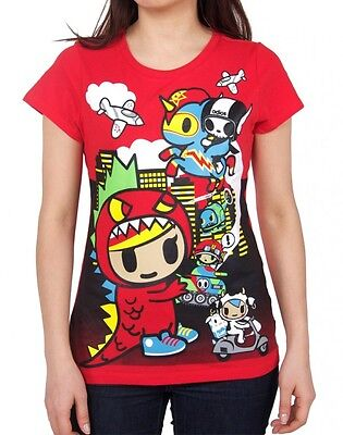 NEW Official Tokidoki Lil Kaiju Red Women's Tee T-shirt WBTE06156 US Seller