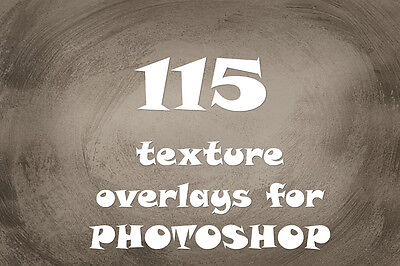 115 texture  overlays for photoshop  png file