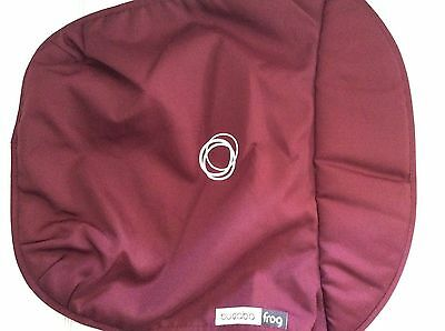 Bugaboo Frog Stroller Bassinet Apron maroon Canvas Carrycot cover baby new