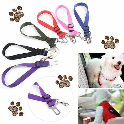 Car Vehicle Safety Seat Belt Restraint Harness Leash Travel Clip -Pet Cat Dog MZ