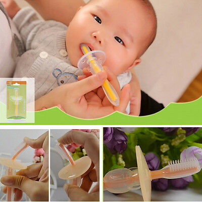 1PCS Baby Teeth Care Safet Soft Silicone Toothbrush Training Massager Brush Mode