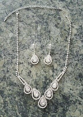 Rhinestone Necklace & Earrings Set~Wedding/Special Occasion ~ BLING!!!!