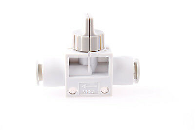 8mm OD Air Tube Push in to Quick Connect Pneumatic Hand Valve VHK2-08F-08F