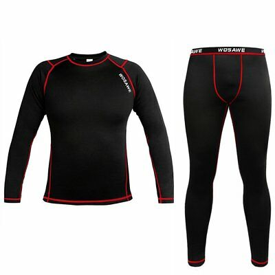Mens Winter Compression Fleece Thermal Baselayer Underwear Shirt Pants Leggings