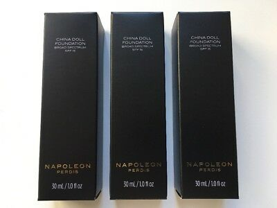 3 x NEW NAPOLEON PERDIS NP CHINA DOLL FOUNDATION - LOOK 3