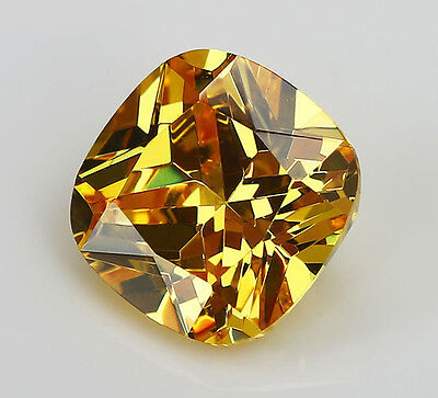 8x8mm 3.46ct Yellow Sapphire Square Cushion Faceted Cut VVS Loose Gem From China