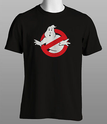 Ghostbusters Classic 80's Retro Black T Shirt