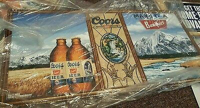 Coors Banquet Beer Metal Tin Sign New In Pkg For Bar Mancave