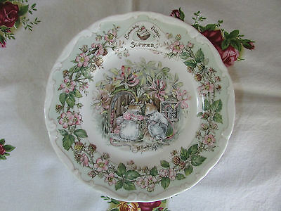 Royal Doulton Brambly Hedge Summer tea plate made in England 15.5cm 1983