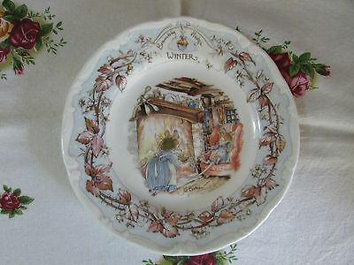 Royal Doulton Brambly Hedge Winter tea plate made in England 15.5cm
