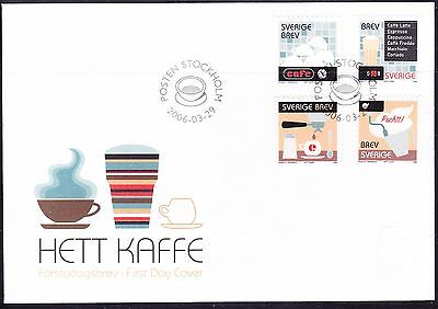 Sweden 2006 - Coffee First Day Cover - Unaddressed