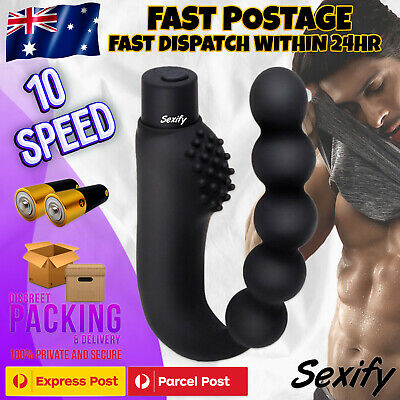 10 Speed Prostate Massager Male Vibrator G-Spot Anal Bead Butt Plug Sex Toy New