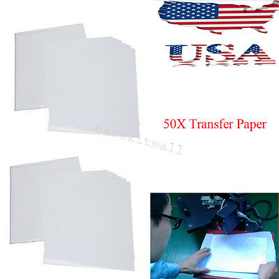 50Sheets A4 Inkjet Heat Iron On Transfer Paper for Light Color Fabrics Recommend