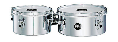 "MEINL MIT810CH Mini-Timbales-Set 8""+10"", Chrome Finish"