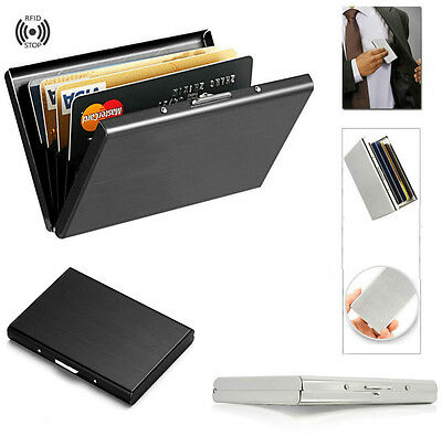 Men Stainless Steel Card Holder Wallet Money Clip Cash Slim Pocket Card Case NEW