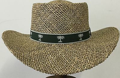 One Size  fits most Straw  Gentlman Hat With Flex Fit Sweatband  56 cm to 60 cm