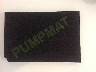 PumpMat Shower Pump Anti Vibration Mat Noise Reducing Mounting Pad 300x200x25mm