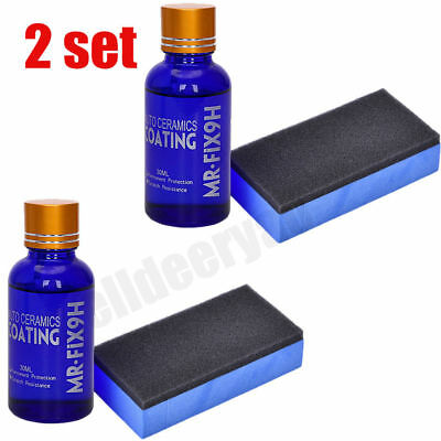 2 set Car Super Hydrophobic Liquid Ceramic Glass Coating Wax Coat Car Paint Care