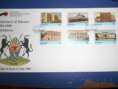 ZIMBABWE...1990  centenary of Harare first day cover