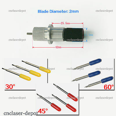 1pc Roland Blade Holder & 9pcs 30 45 60 Degree Cutting Blade For Cutting Plotter
