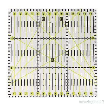 Square Acrylic Clear Grid Acrylic Quilting Templates Patchwork Ruler Transparent