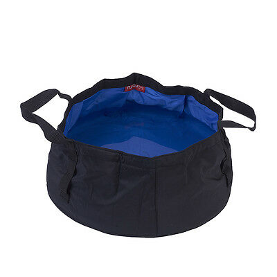 8.5L Portable Outdoor Camping Fishing Basin Water Bucket Carrier Wash Bowl Bag