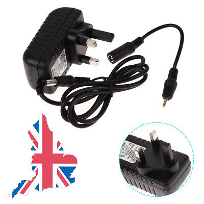 AC 100-240V Converter Adapter DC 5.5 x 2.5MM + 2.5 X0.7MM 4.5V1A Charger UK Plug