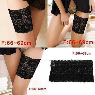 Women Summer Lace Elastic Socks Anti-Chafing Thigh Bands Prevent Sock Fashion F