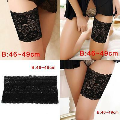 Women Summer Lace Elastic Socks Anti-Chafing Thigh Bands Prevent Sock Fashion B