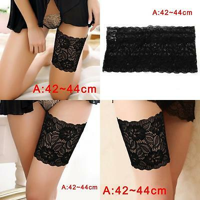 Women Summer Lace Elastic Socks Anti-Chafing Thigh Bands Prevent Sock Fashion A