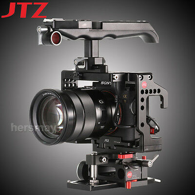 JTZ DP30 JS7 Camera Cage Top Handle Grip Baseplate For Sony A9 A7RIII 15mm Rod