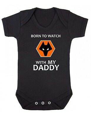 Wolves football Club Baby grow Vest Boy Girl Clothes Present Wolverhampton daddy