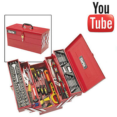 Clarke CHT641 199 piece DIY Tool Kit with Cantilever Tool Box - New
