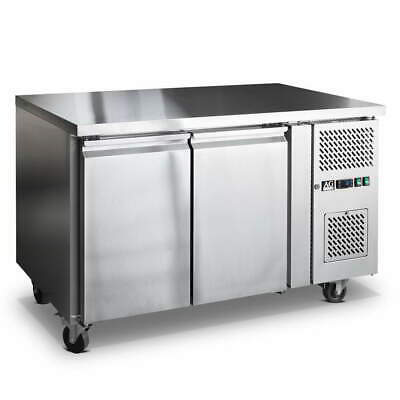 Commercial 2 Door Fridge Work bench Counter Or Under Bench Stainless Steel