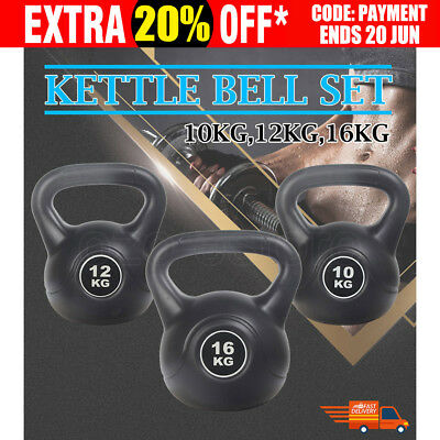 10/12/16 kg Kettlebell Kettle Bell Body Fitness Training Exercise Workout Home