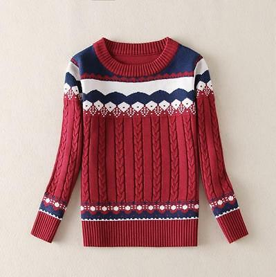 Pullover Sweater Fashion Fall Long Sleeve Outwear O-neck Casual Knitted Tops New