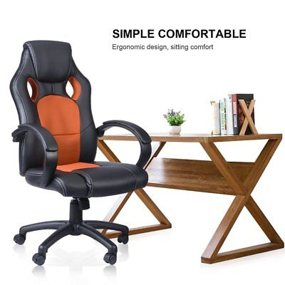 Racing Bucket Computer Armchair Desk Gaming Office Chair Seat Leather Mesh Sa