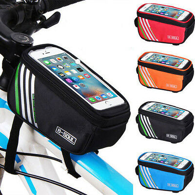 Bicycle Bike Cycling Front Frame Tube Handlebar Bag Waterproof 5.5''Mobile Phone