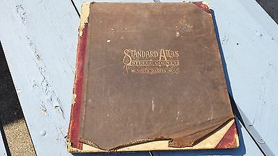 Antique 1911 Standard Atlas Steele County North Dakota Finley Hope Sharon